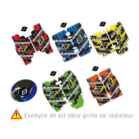 Kit déco de cache radiateur BLACKBIRD Dream Graphic 3 rouge Honda CRF250R