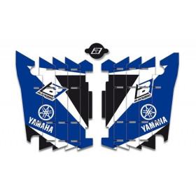 Kit déco de cache radiateur BLACKBIRD Dream Graphic 3 bleu Yamaha YZ2250F/YZ450F - WR250F