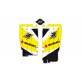 Kit déco de cache radiateur BLACKBIRD Dream Graphic 3 jaune Suzuki RM-Z250