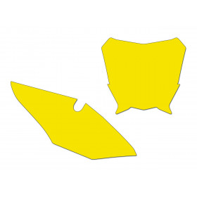Fonds de plaque BLACKBIRD jaune Honda CRF450R
