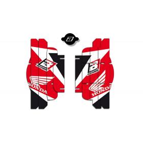 Kit déco de cache radiateur BLACKBIRD Dream Graphic 3 rouge Honda CRF250R