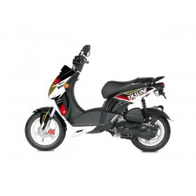 Kit deco KUTVEK Yasuni Factory rouge/noir Peugeot Ludix 50