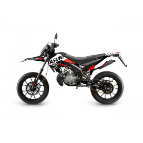 Kit deco KUTVEK Yasuni Factory rouge/blanc Derbi DRD X-Treme 50