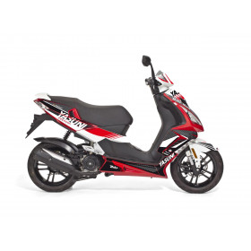 Kit deco KUTVEK Yasuni Factory rouge/blanc Peugeot Speedfight