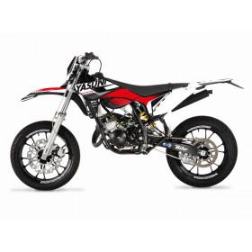 Kit deco KUTVEK Yasuni Factory rouge/blanc Sherco SM50
