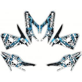 Kit déco Freegun Firehead bleu Kutvek MBK Nitro
