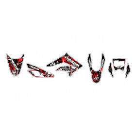 Kit déco Freegun Firehead rouge Kutvek Derbi Senda DRD X-Treme