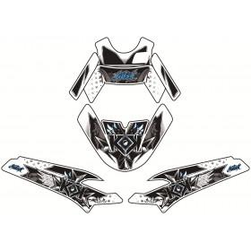 Kit déco Demon Kutvek bleu Peugeot Ludix