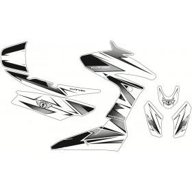 Kit déco Velocity Kutvek blanc/noir Yamaha T-Max 530