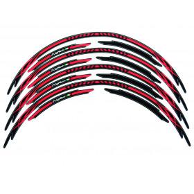 Liseré de jantes LIGHTECH Tribal rouge  - Kit pour 2 roues