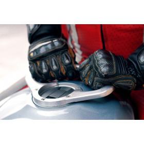 Poignée de réservoir A-SIDER 5 vis argent Ducati