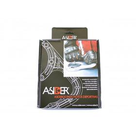 Poignée de réservoir A-SIDER Black Edition 6 vis noir BMW