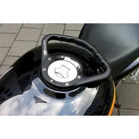 Poignée de réservoir A-SIDER Black Edition 5 vis noir Honda