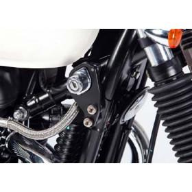 Kit fixation instruments démarrage LSL argenté Triumph Bonneville/Thruxton