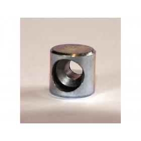 Douille de cable cylindrique 10x10mm Venhill laiton 20 pièces