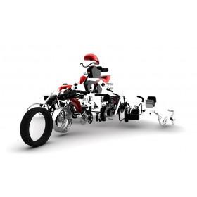 Pièce détachée - Vis de repose-pied M8x30 R&G RACING pièce n°4 pour 448116