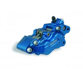 Etrier de frein 6 pistons avant droit bleu anodisé Nissin