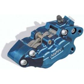 Etrier de frein 6 pistons avant gauche bleu anodisé Nissin