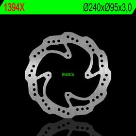 Disque de frein avant gauche NG 1394X pétale fixe