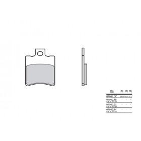 Plaquettes de frein BREMBO 07002CC organique