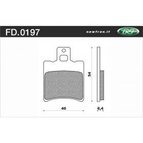 Plaquette de frein NEWFREN FD0197 BA organique