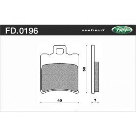 Plaquette de frein NEWFREN FD0196 BA organique