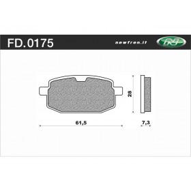 Plaquette de frein NEWFREN FD0175 BA organique