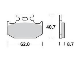 Plaquettes de frein BRAKING 722CM44 métal fritté