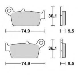 Plaquettes de frein BRAKING 701CM46 métal fritté