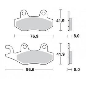 Plaquettes de frein BRAKING 696CM44 métal fritté