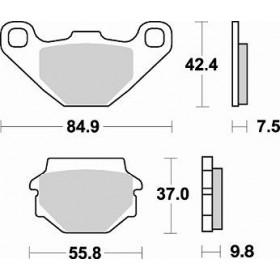 Plaquettes de frein BRAKING 669CM44 métal fritté