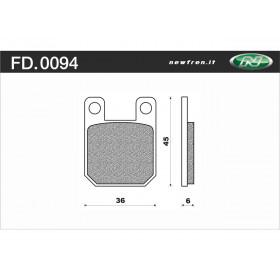 Plaquette de frein NEWFREN FD0094 BA organique