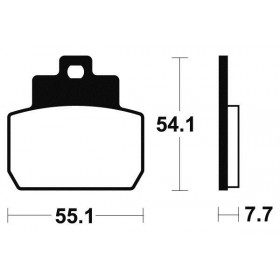 Plaquettes de frein TECNIUM ME331 organique