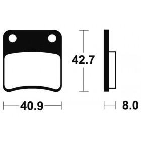 Plaquettes de frein TECNIUM ME170 organique