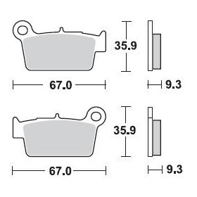 Plaquettes de frein BRAKING 890CM46 semi-métallique