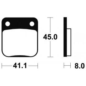 Plaquettes de frein TECNIUM ME36 organique