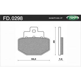 Plaquette de frein NEWFREN FD0298 BA organique