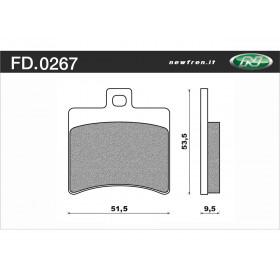 Plaquette de frein NEWFREN FD0267 BA organique