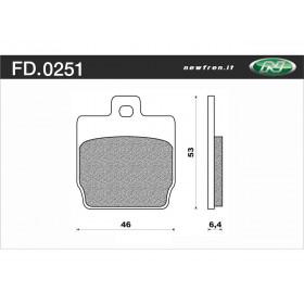 Plaquette de frein NEWFREN FD0251 BA organique