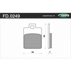 Plaquette de frein NEWFREN FD0249 BE organique