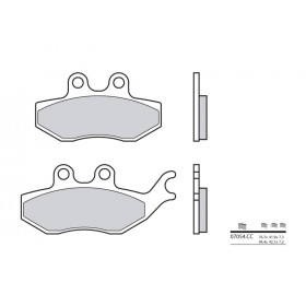 Plaquettes de frein BREMBO 07054CC organique
