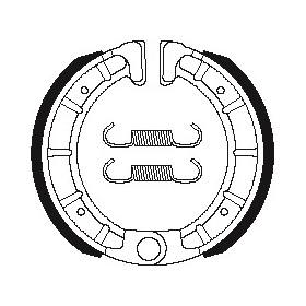 Machoires de frein TECNIUM BA206 organique