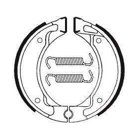 Machoires de frein TECNIUM BA050 organique