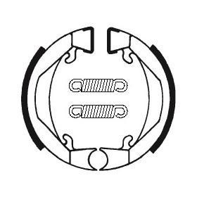 Machoires de frein TECNIUM BA074 organique