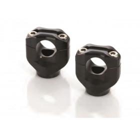 Pontets de guidon LSL Ø 28,5mm + 30mm noir Honda CBF1000
