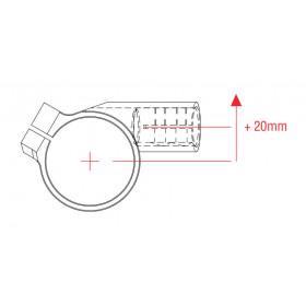 Bracelets LIGHTECH Ø52 hauteur 0mm/déport +20mm/10° noir