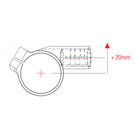 Bracelets LIGHTECH Ø50 hauteur 0mm/déport +20mm/10° noir