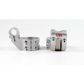 Bracelets LSL Offset High Ø41mm hauteur +37mm/déport +25mm/5° argent
