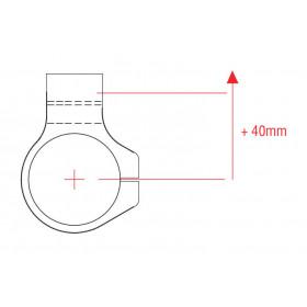 Bracelets LIGHTECH Ø50 hauteur 0mm/déport +40mm/10° noir
