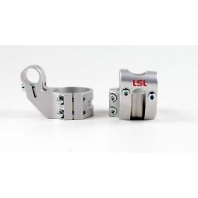 Bracelets LSL Offset High Ø48mm hauteur +37mm/déport +25mm/5° argent